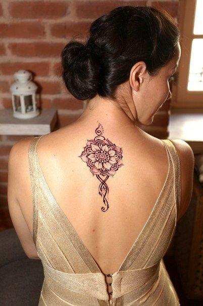 Смотреть фото татуировок с хной на шее