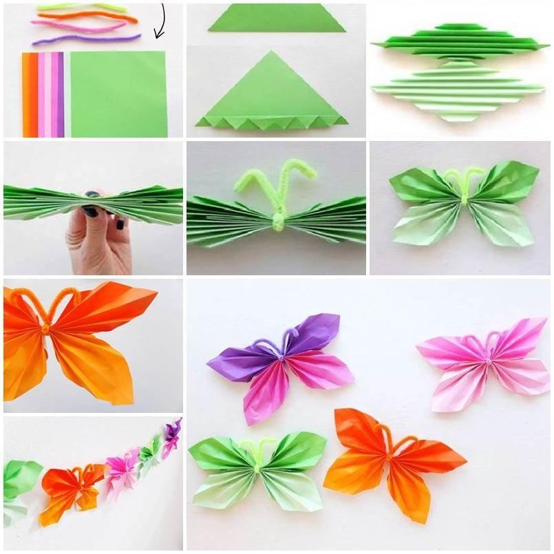 Дочке, бабочка из бумаги гармошкой открытка
