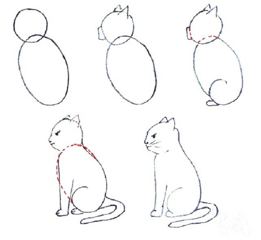закален рисование по частям картинки каждой