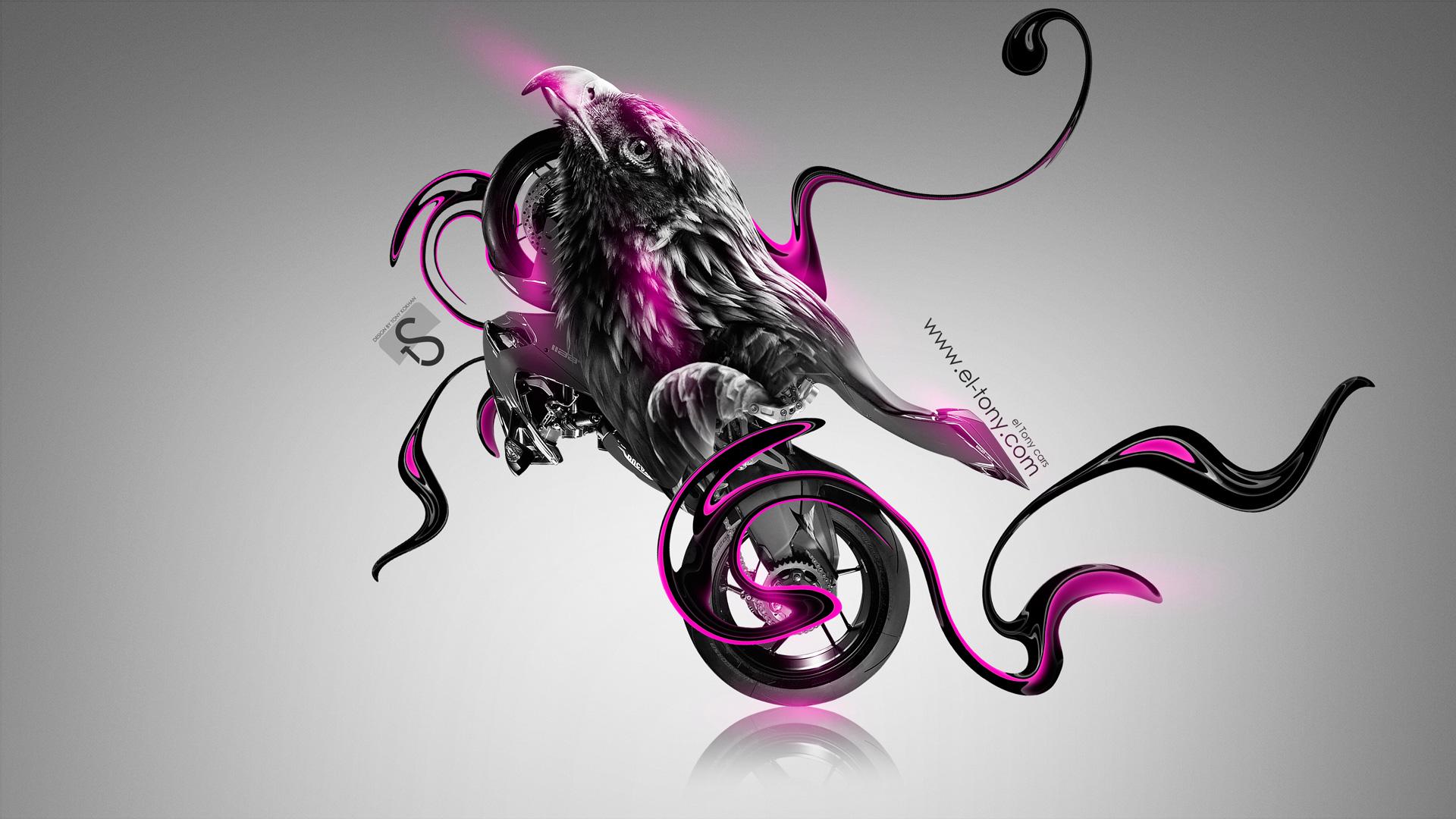 Moto Ducati 1199 Fantasy Bird Bike 2014 Pink Neon Design By Tony ...