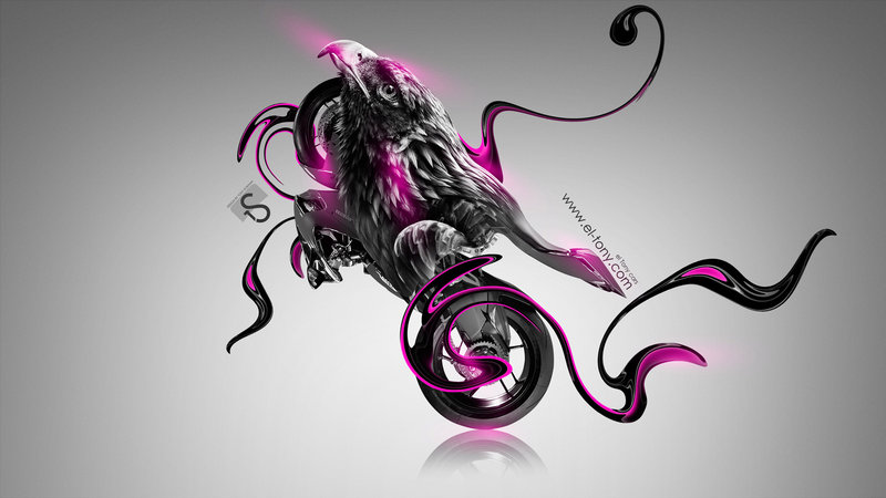 Moto Ducati 1199 Fantasy Bird Bike 2014 Pink