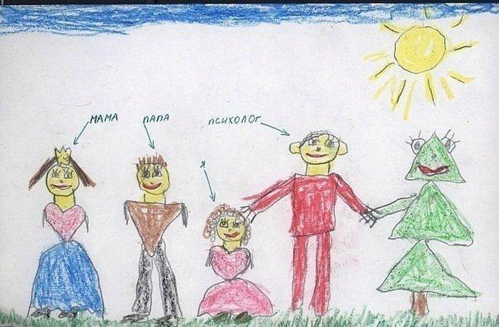 Для мамы, смешные детский рисунки