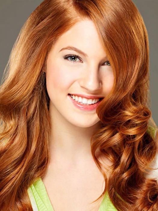 Медно золотистый цвет волос фото