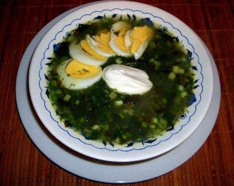 Суп с щавелем и яйцом рецепт