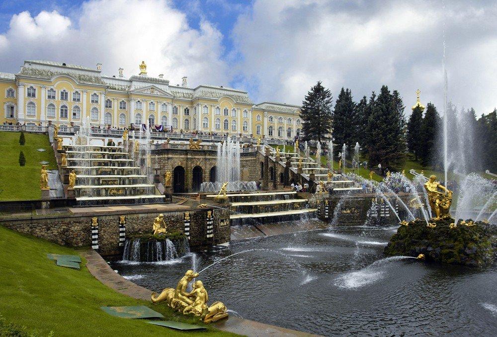 петергоф дворцово парковый фото или