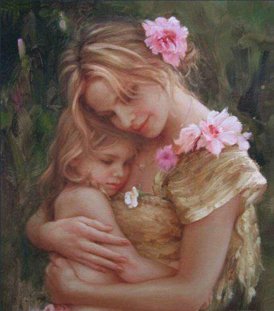 Красивые открытки мама и дочь, днем