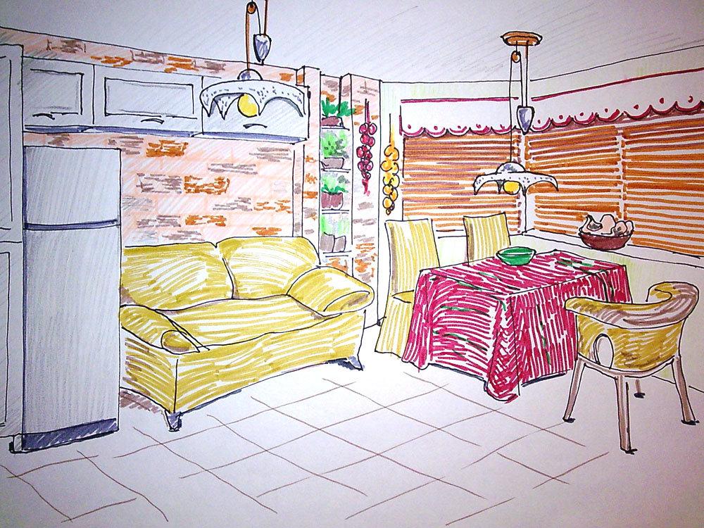 Детские рисунки кухня моей мечты