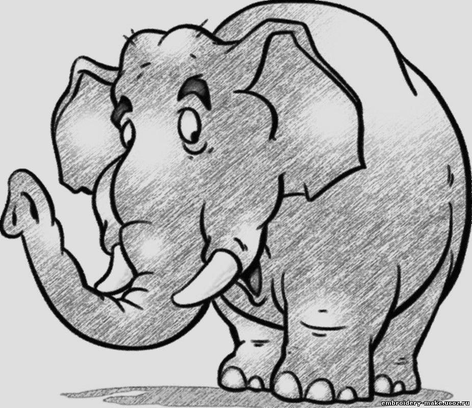 Картинки чтобы срисовать слона