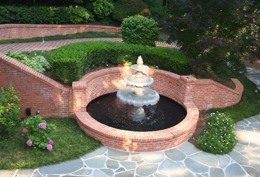 Картинки фонтан в ландшафтном дизайне