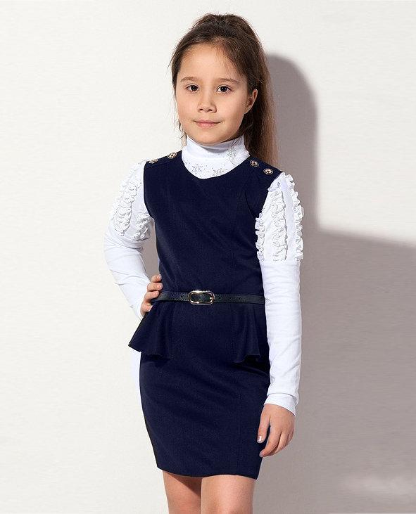 модный сарафанчик для девочки в школу