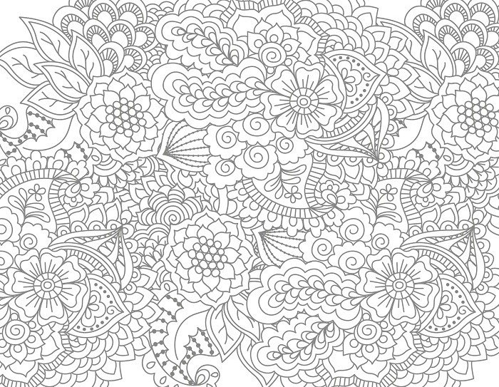 Необычные цветы раскраска 138