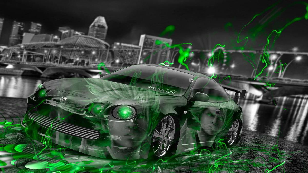 Toyota Celica JDM Tuning Anime Boy Aerography City Car 2015 Art ...