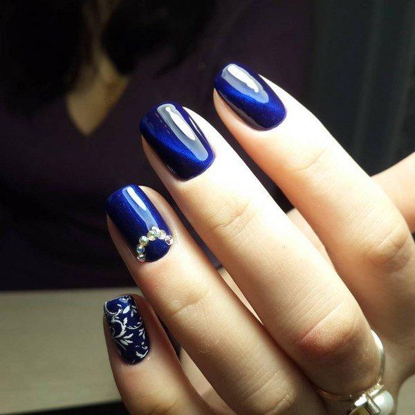 Дизайн ногтей синий 2018 фото новинки