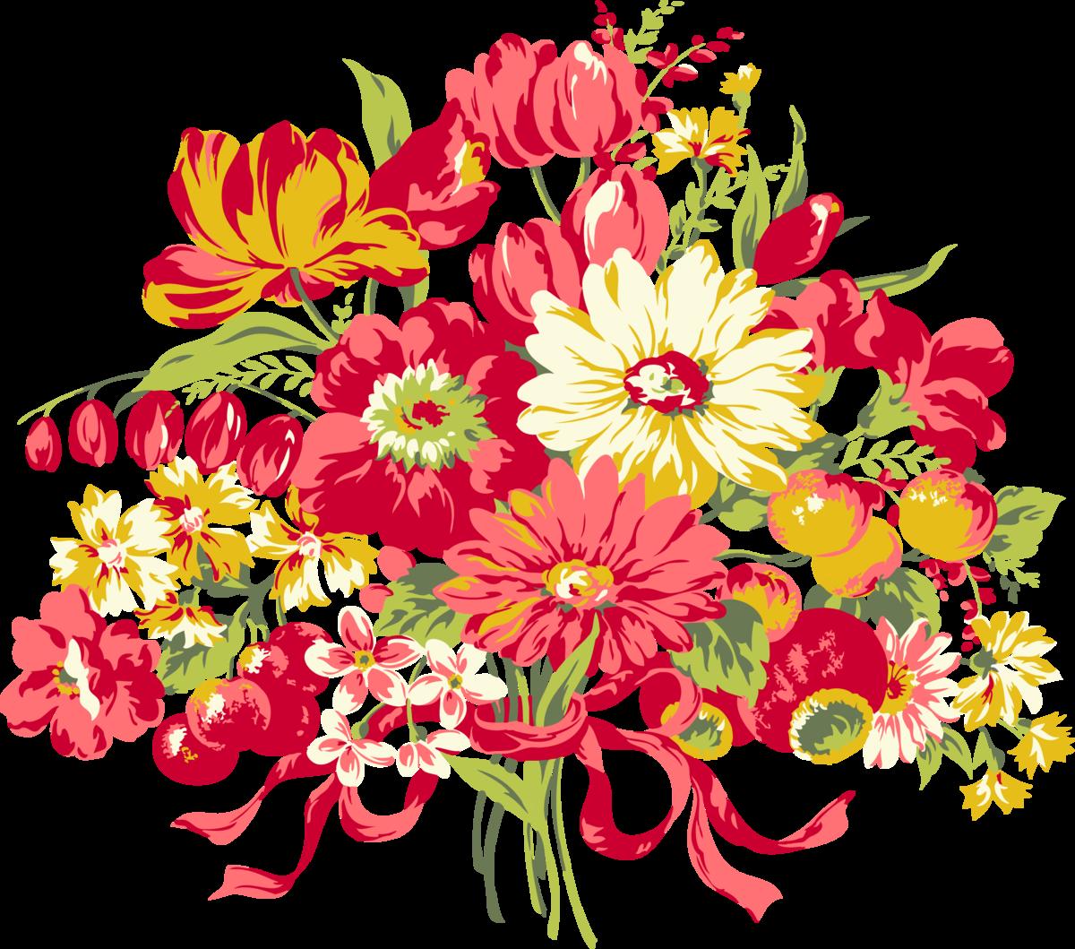 Открытки, рисуем букет цветов открытка