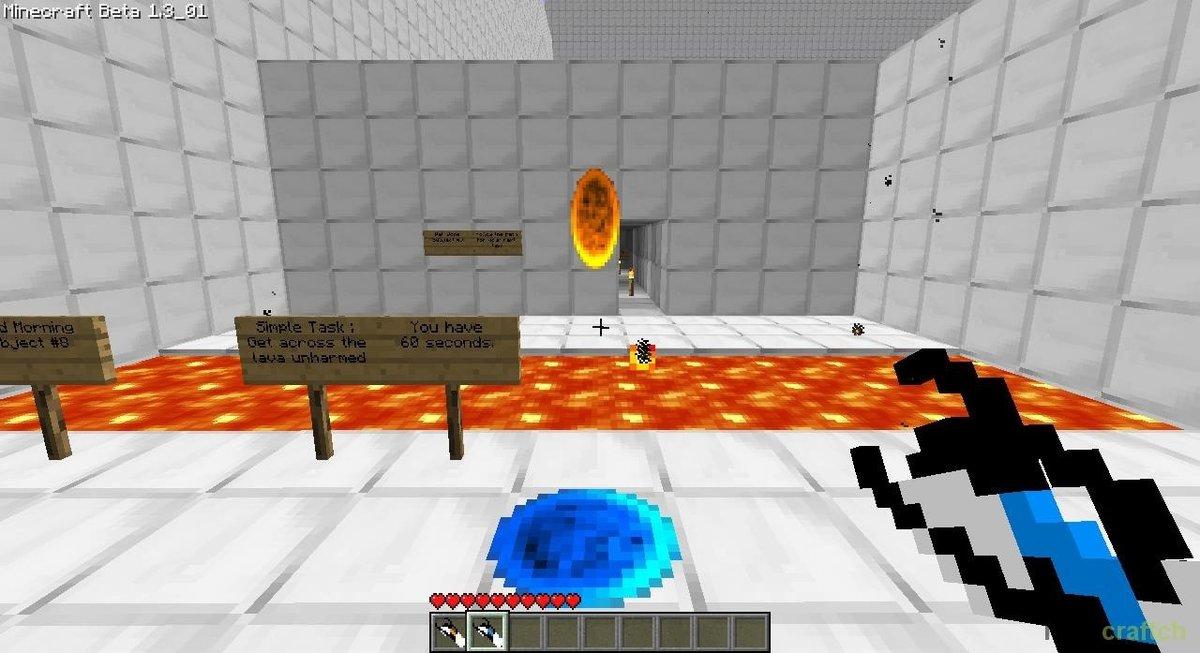 Скачать мод Portal Gun для Minecraft 1.7.10