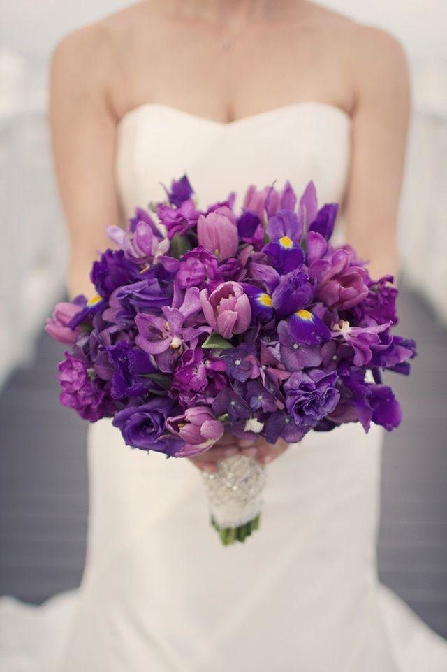 Марта, букет невесты в сиреневом стиле