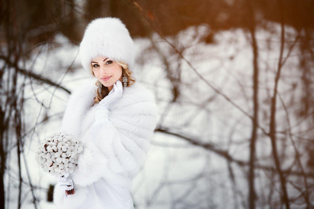 головные уборы зимние невесты