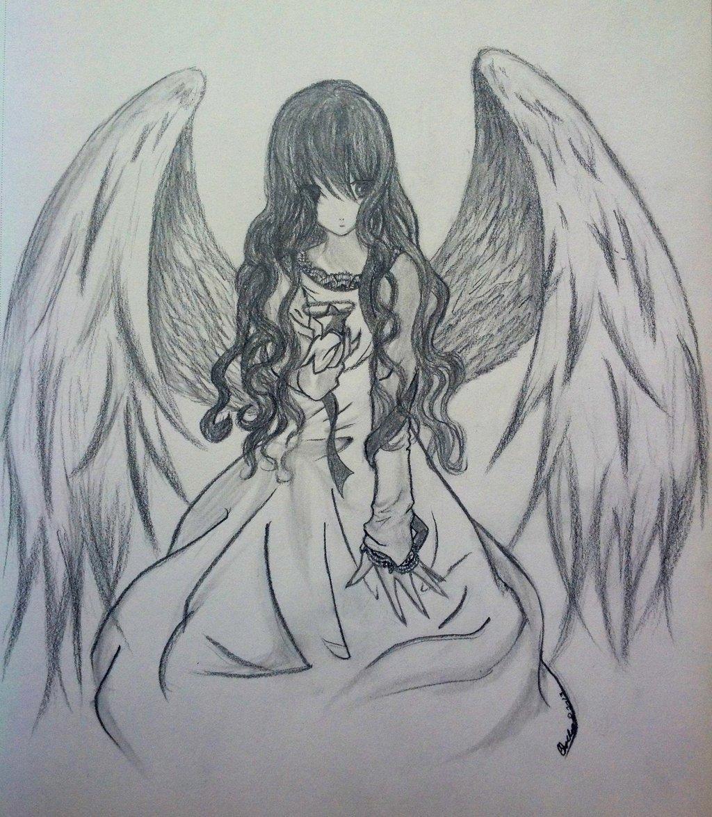 именно картинки или рисунки ангелов карандашом общие настройки