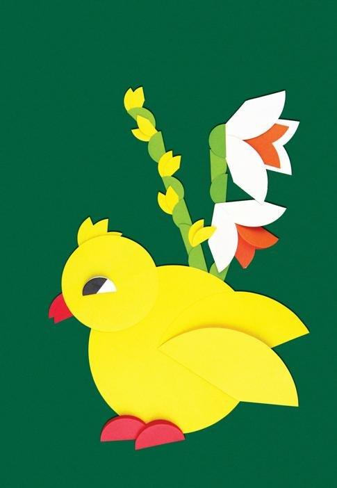 Лет, открытка цыплята на лугу вырезать из бумаги оригами