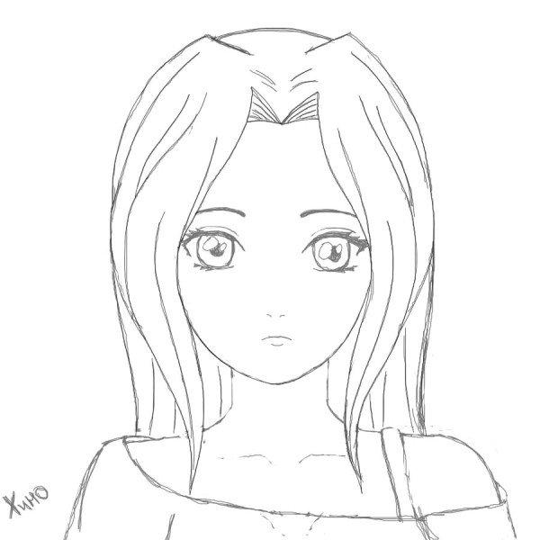 легкие рисунки аниме карандашом для начинающих