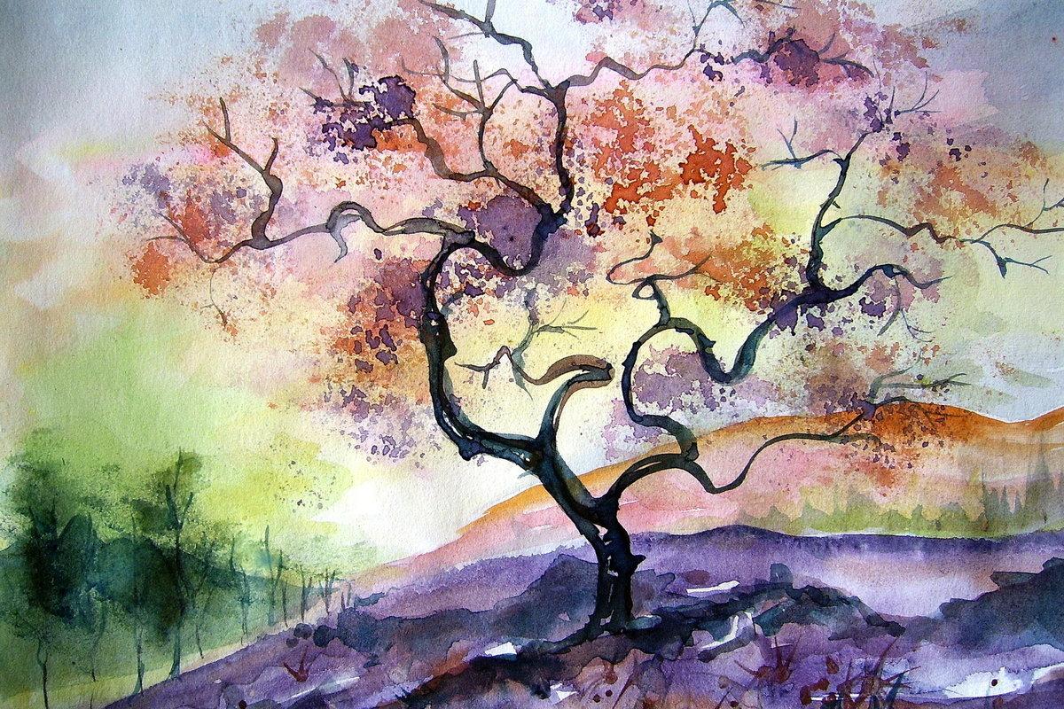Деревья картинки красивые нарисованные, день