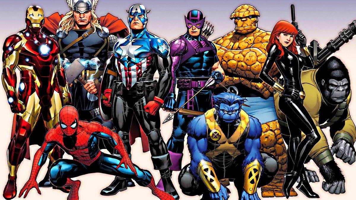 все супергерои на одной картинке
