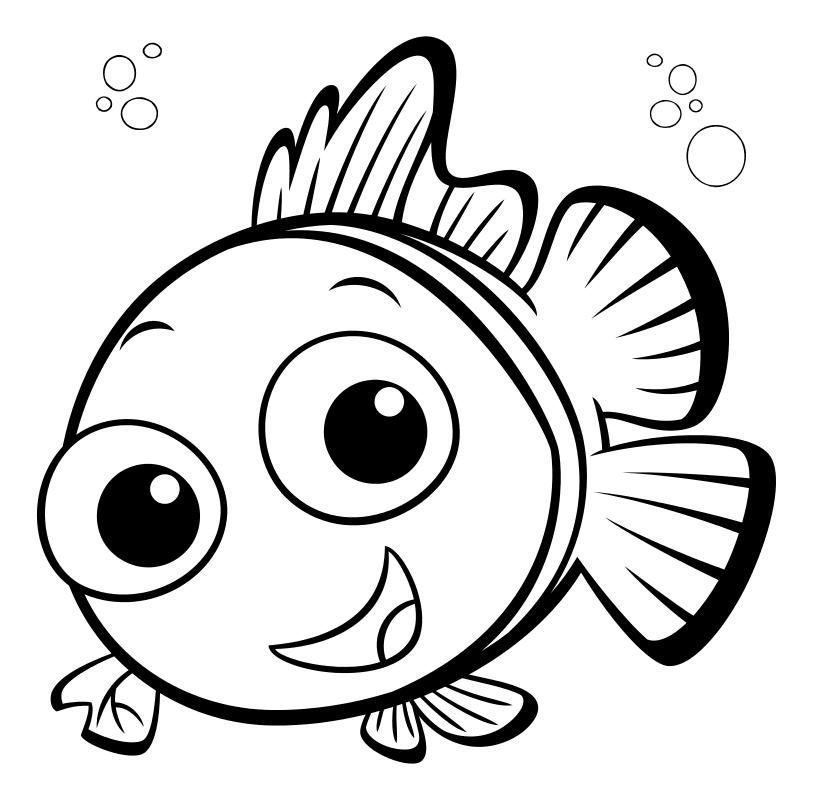 картинки мультяшных рыбок распечатать создан целях консолидации