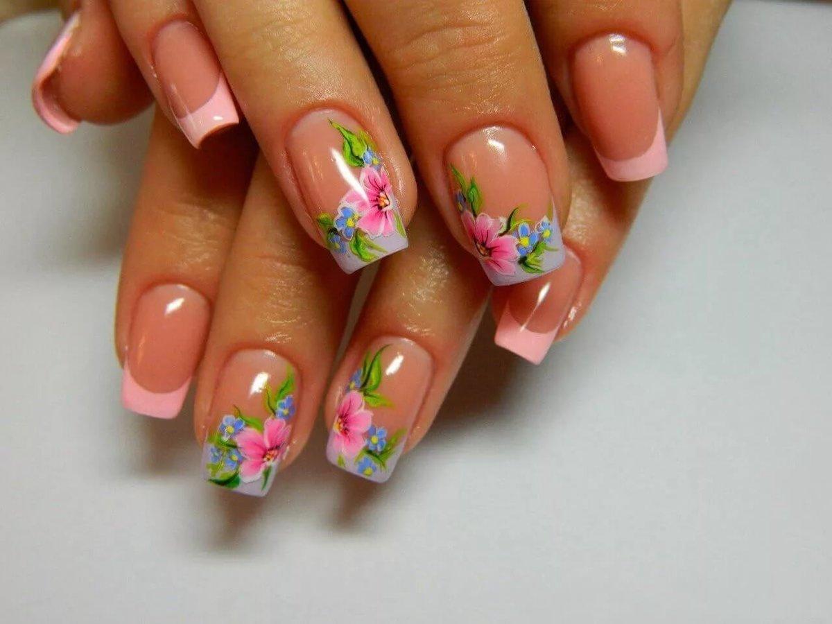 Весенний дизайн в стиле sky-blue; весенний маникюр с цветами и веточками; маникюр весна: геометрия; яркий дизайн «буйство красок»; маникюр весна в стиле pink.