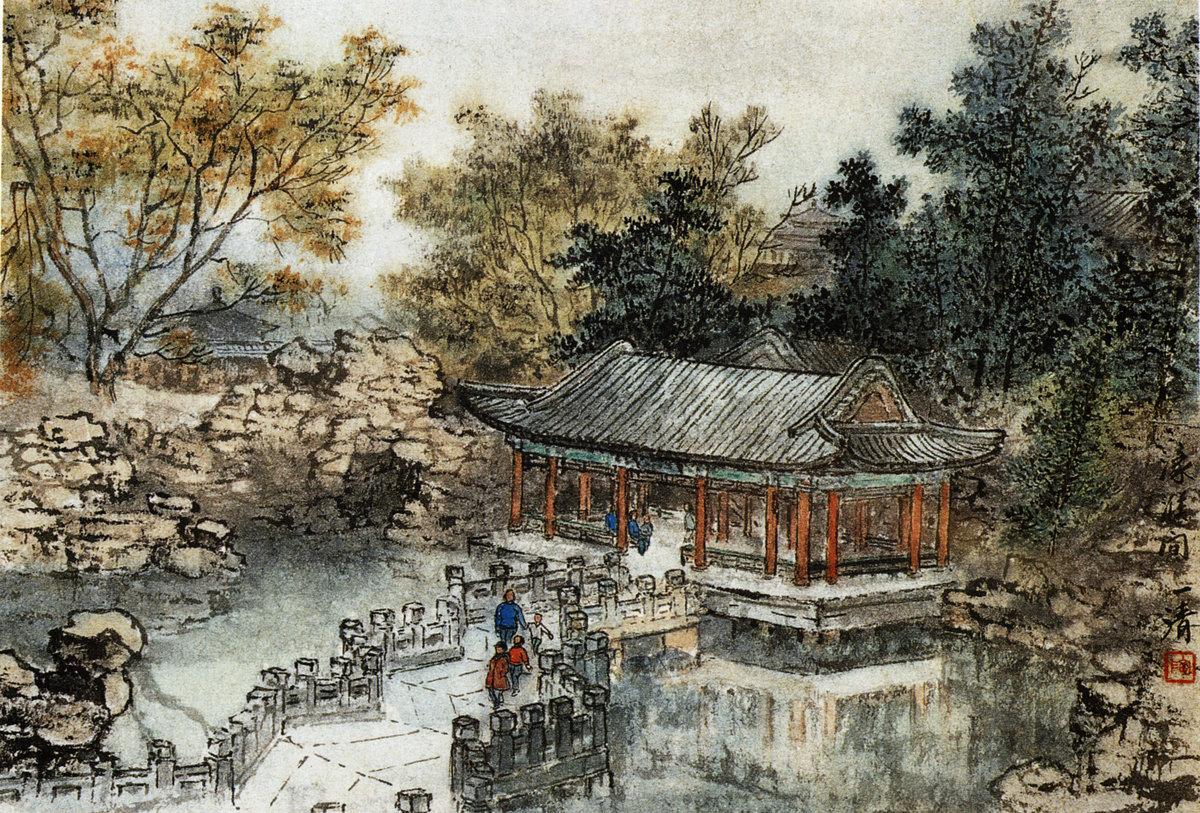 Старинная китайская живопись картинки