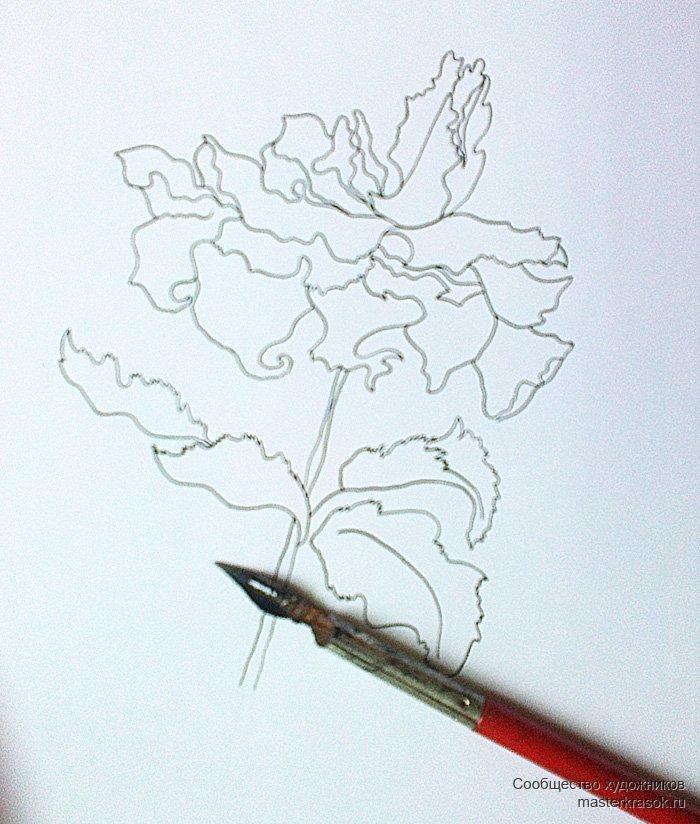простыми картинки как нарисовать тушь свободное время ирина