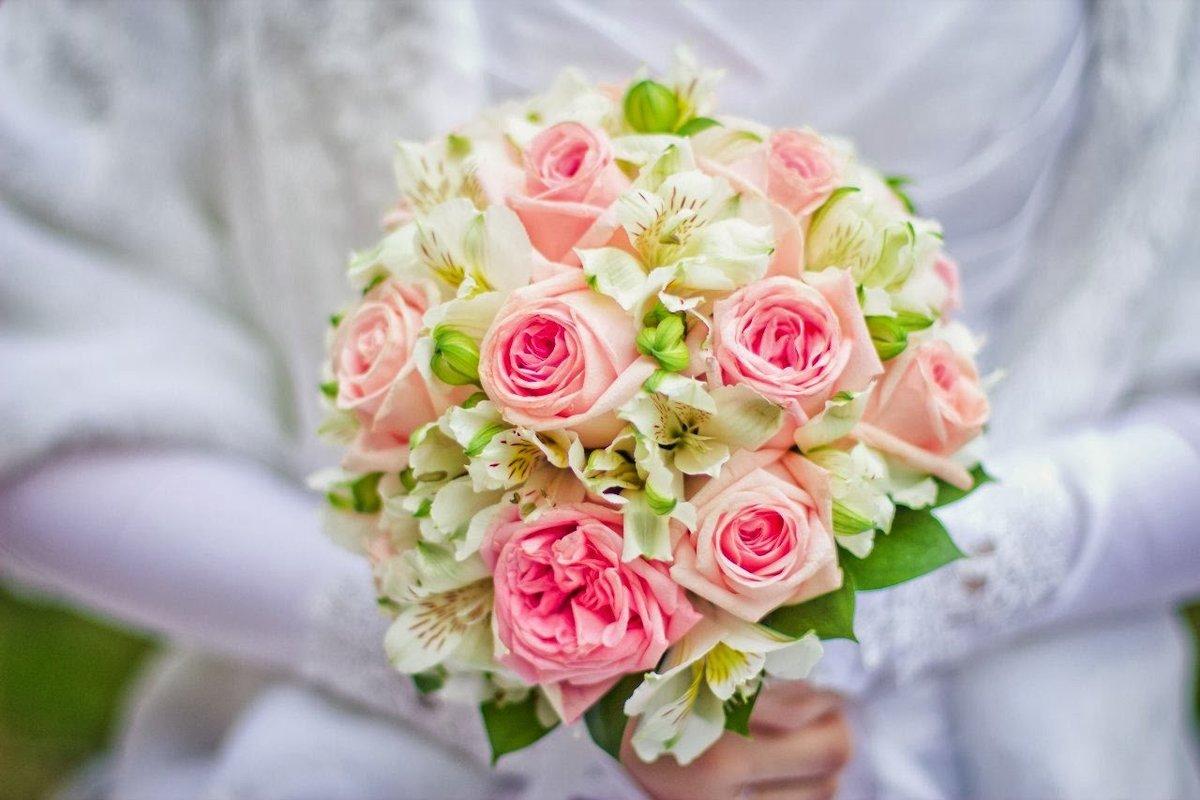 Заказ и доставка свадебного букета, фуксия