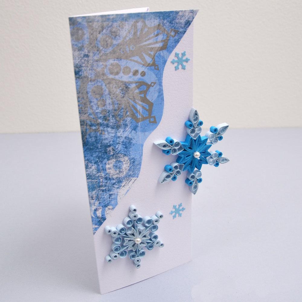 Декорируем новогоднюю открытку