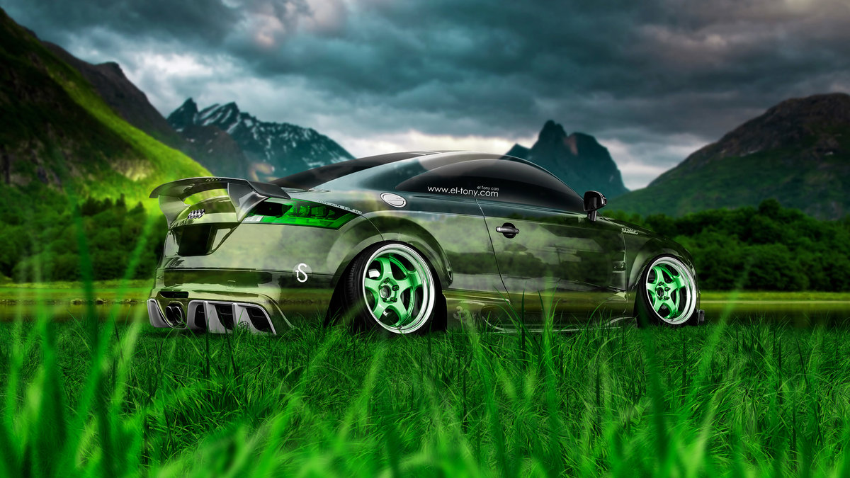 Lovely Audi TT Tuning 3D Crystal Nature Car 2015