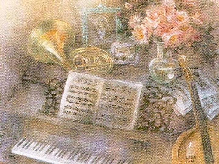 Старинные открытки о музыке, защита диплома картинки