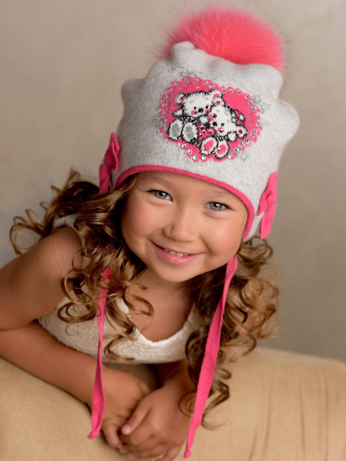Картинки зимние шапочки для девочек