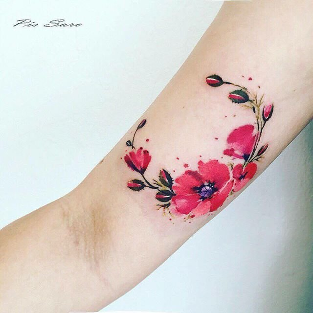 e0cc7ca523a13 Small Top 25+ best Realistic flower tattoo ideas on Pinterest   Vintage ...  Small