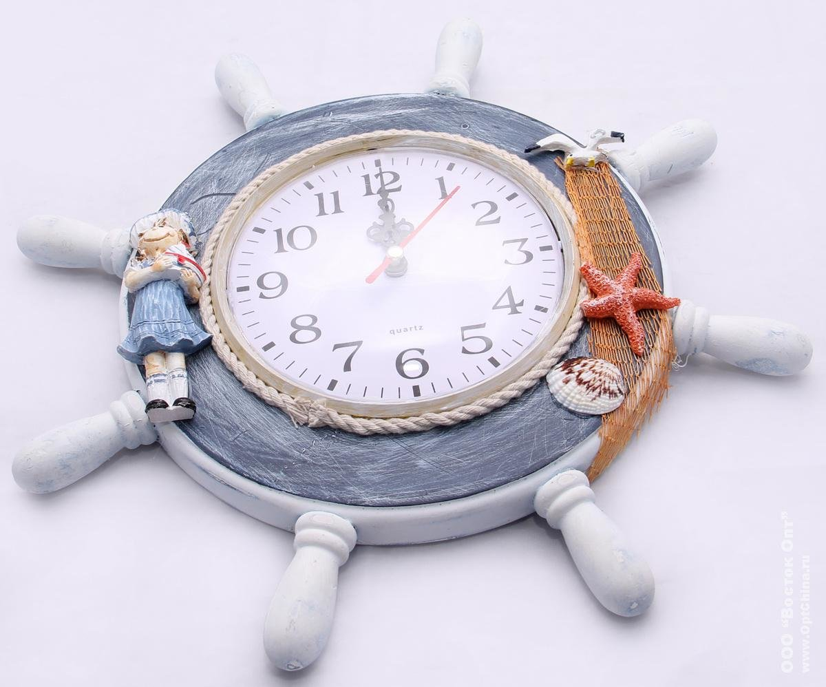 Часы на морскую тематику