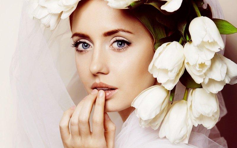 Трендовый макияж невесты: свадебный макияж 2016