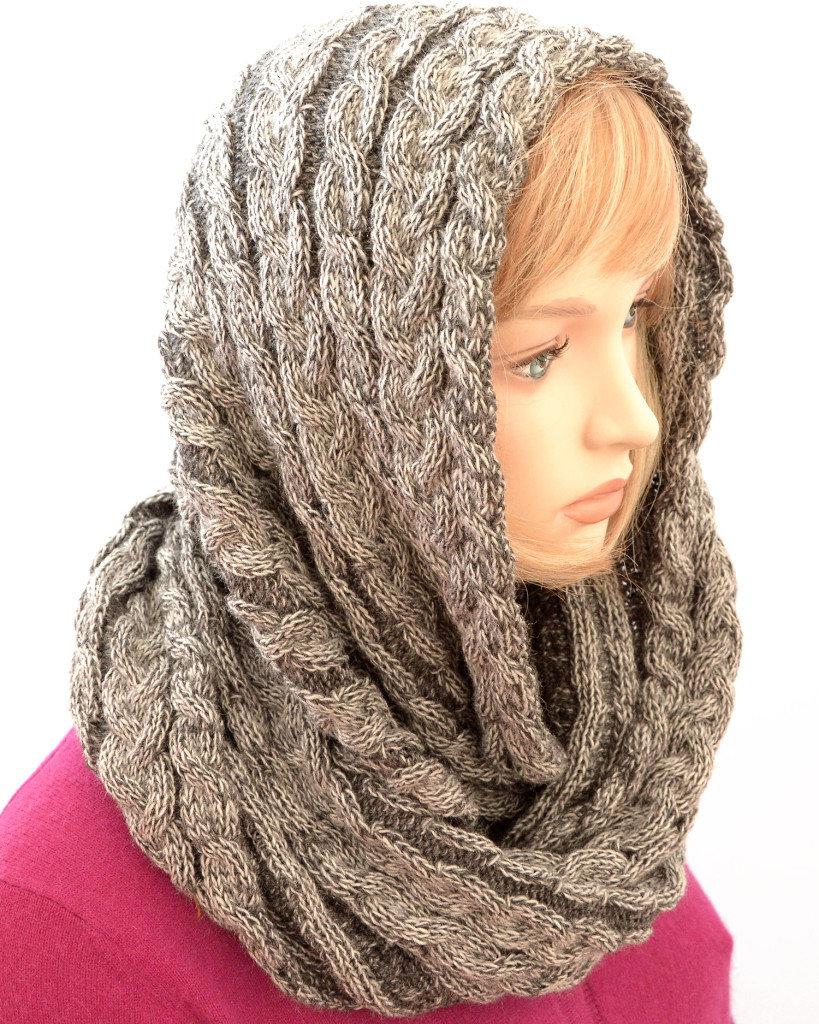 Как связать хомуты-шарфы схемы