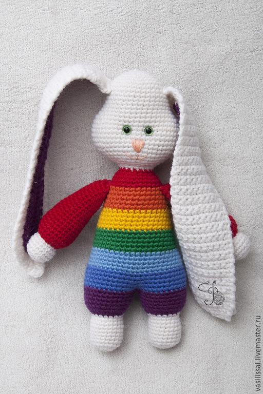 вязаная игрушка заяц карточка пользователя Kotikovakatja в яндекс