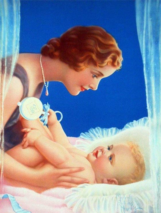 Открытки мама и младенец