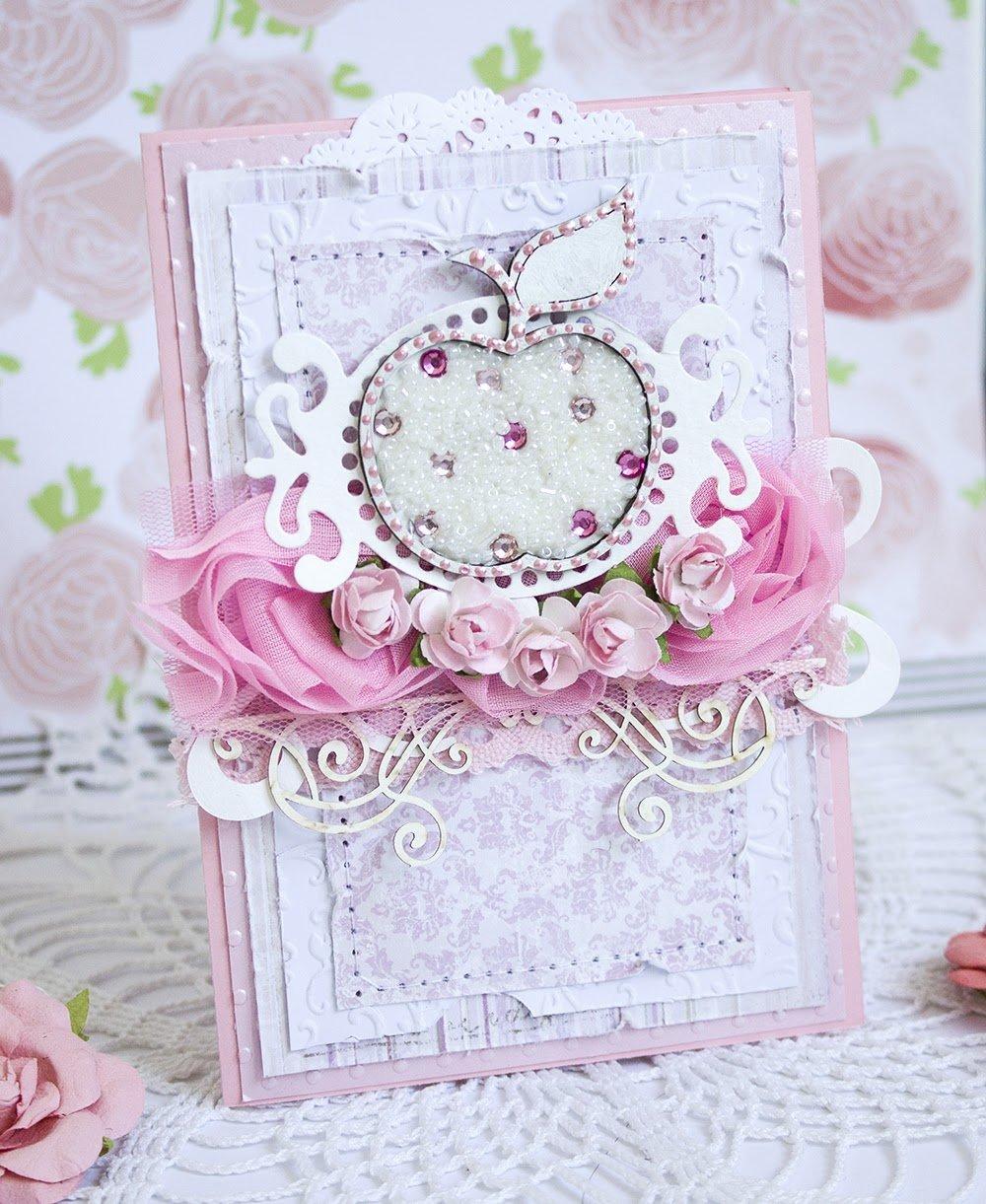 Днем рождения, скрап открытки розовые