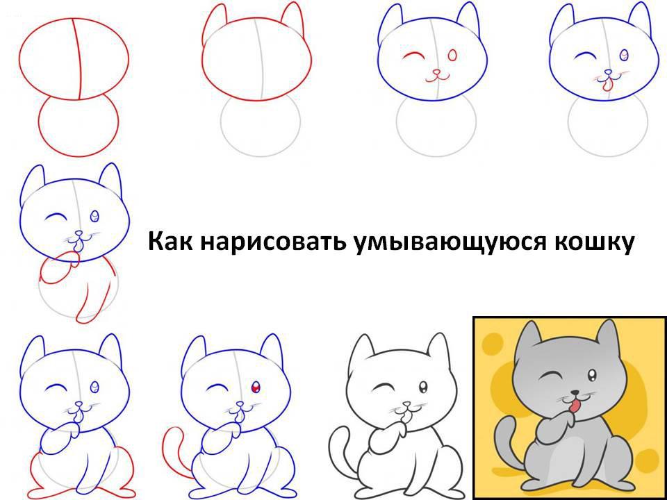 Рамка, что нарисовать на открытке кошку карандашом