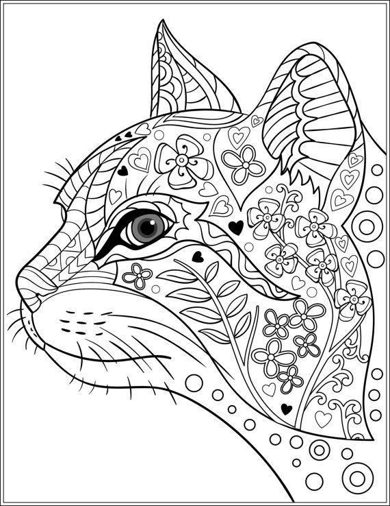 «Раскраска антистресс кошка » – картка користувача Татьяна ...