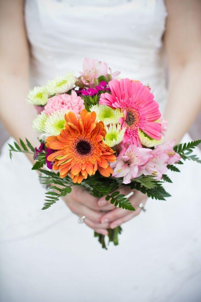 Цветов, свадебные букет из гербер