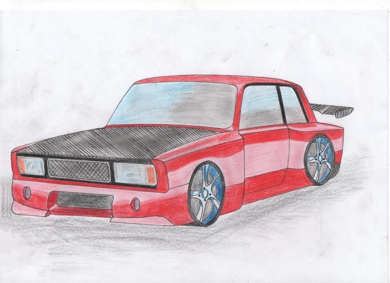 Картинки карандашом про машины