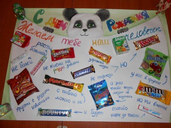 Плакат с шоколадками Подарки 75