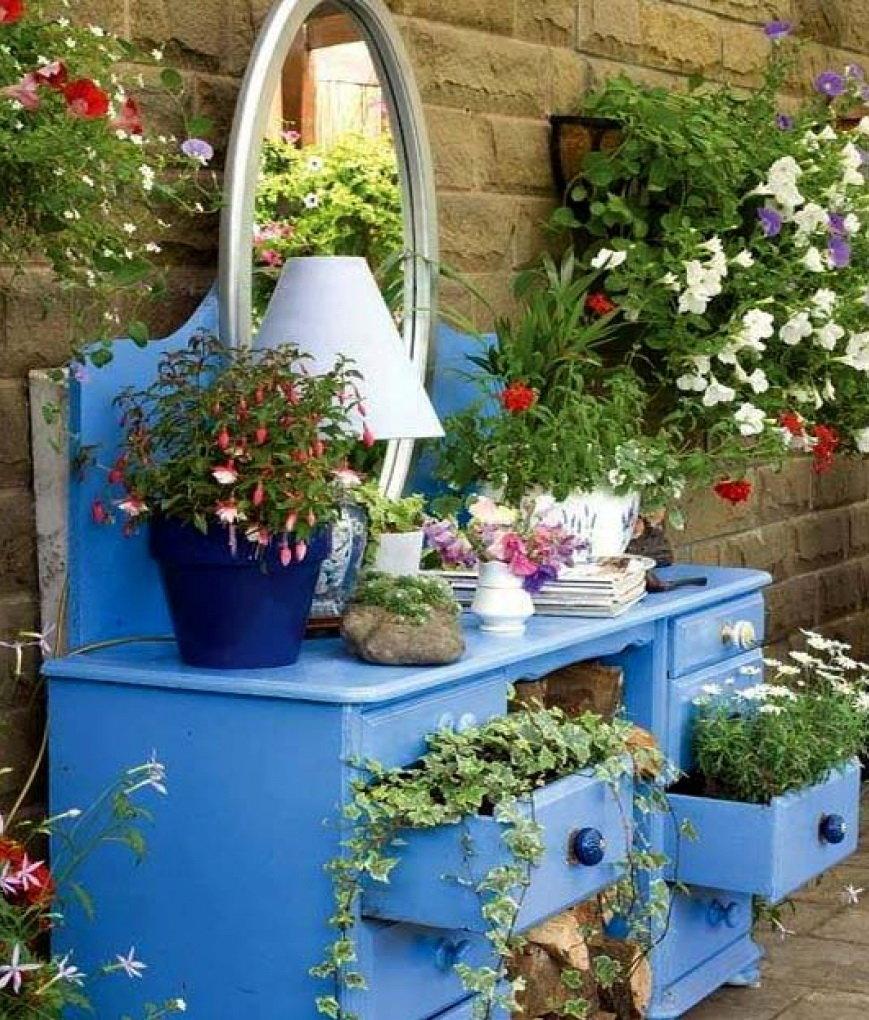 Дачные поделки своими руками для украшения сада фото 354