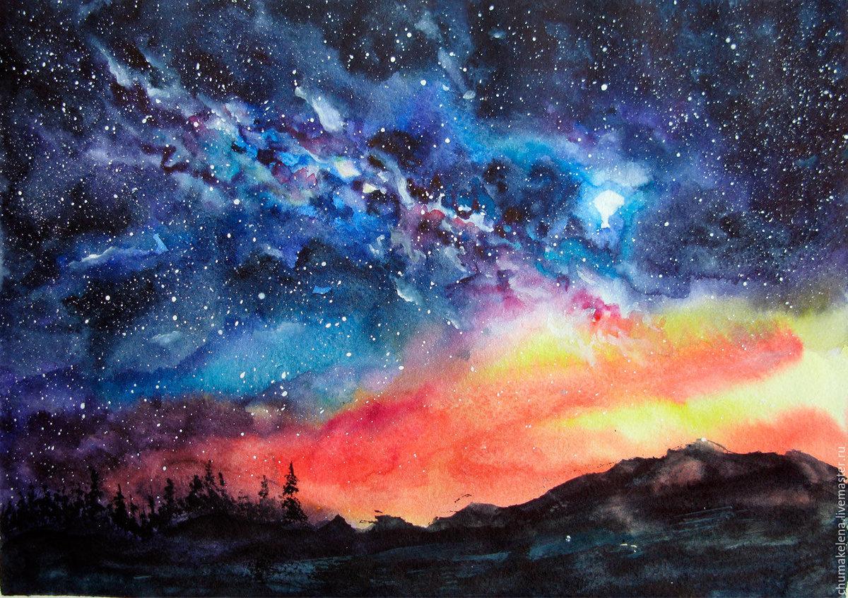Космос картинки живопись