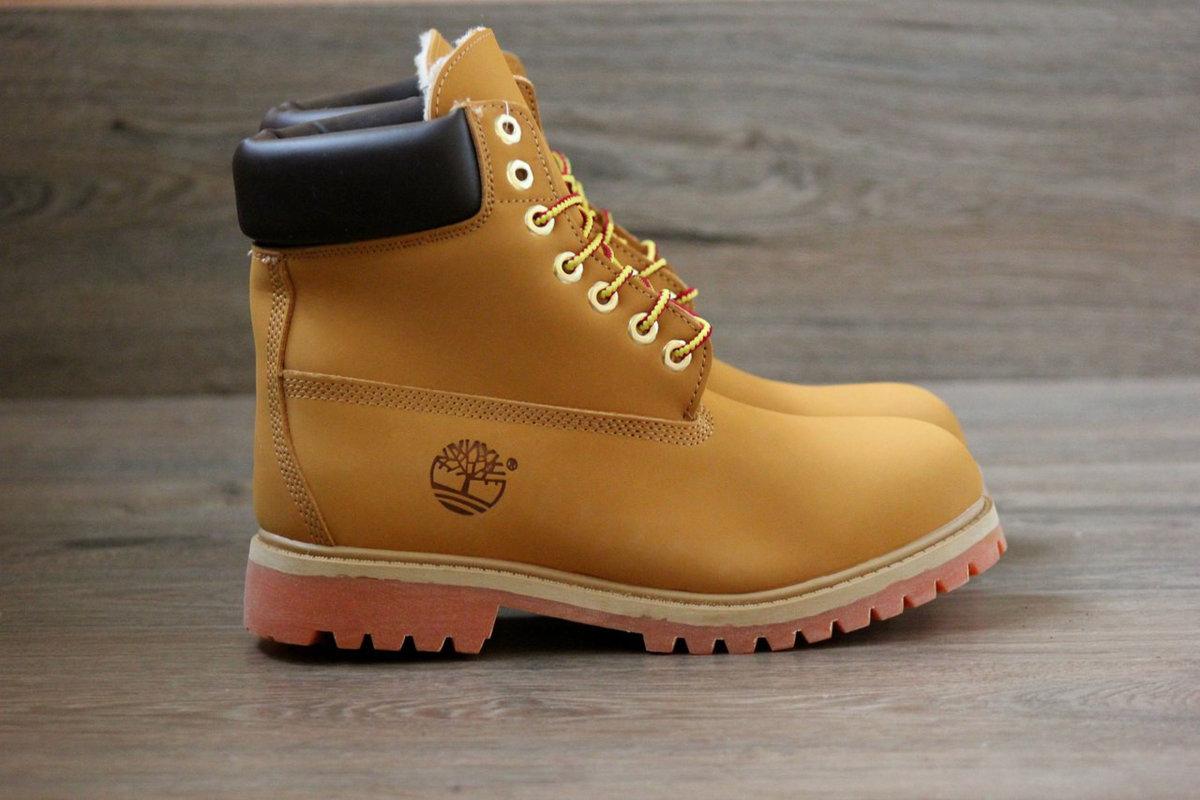 1edd83230d7d Женские зимние ботинки Timberland рыжие на меху и теплые» — картка ...
